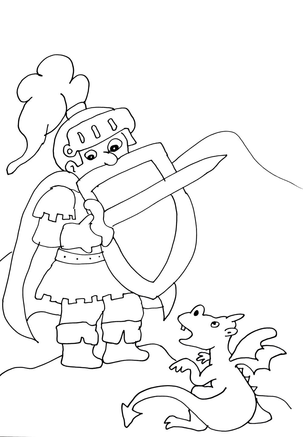 Chevaliers dragons 5 coloriage chevaliers et de dragons coloriages pour enfants - Chevalier a colorier ...