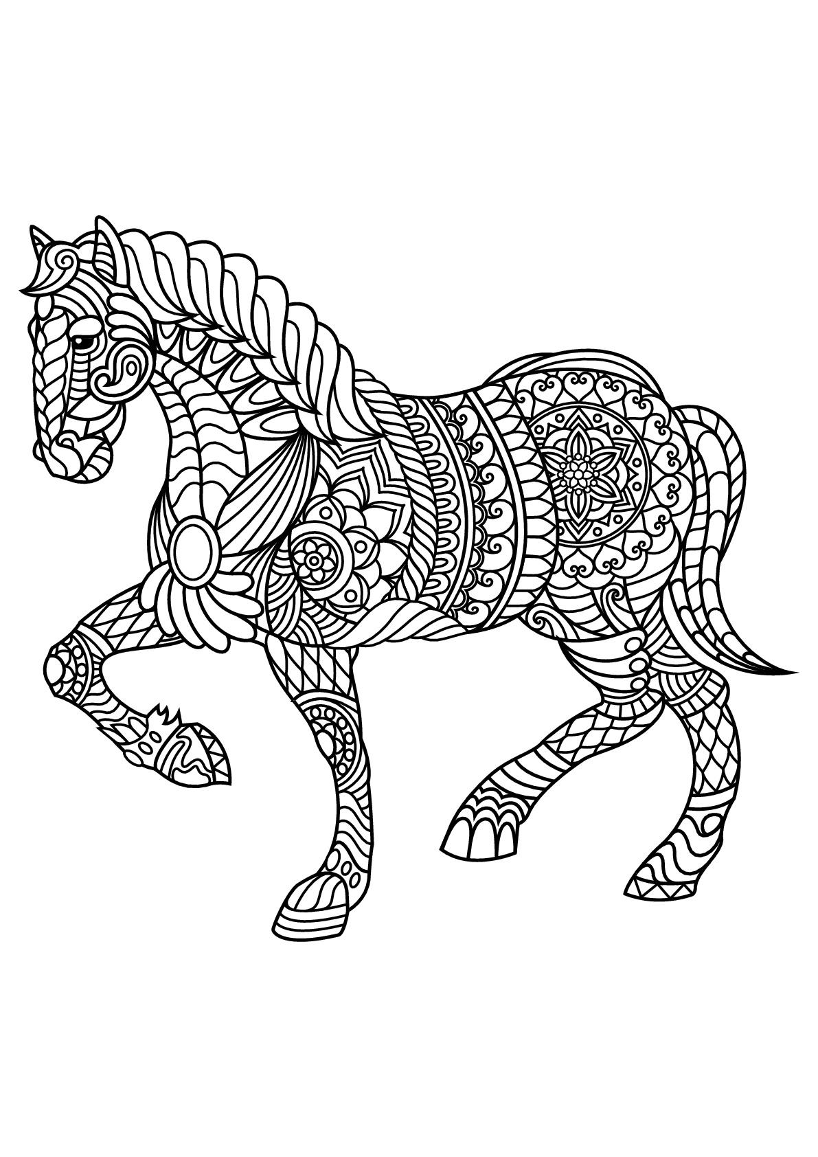 Cheval - Coloriages de chevaux et poneys - Coloriages pour ...