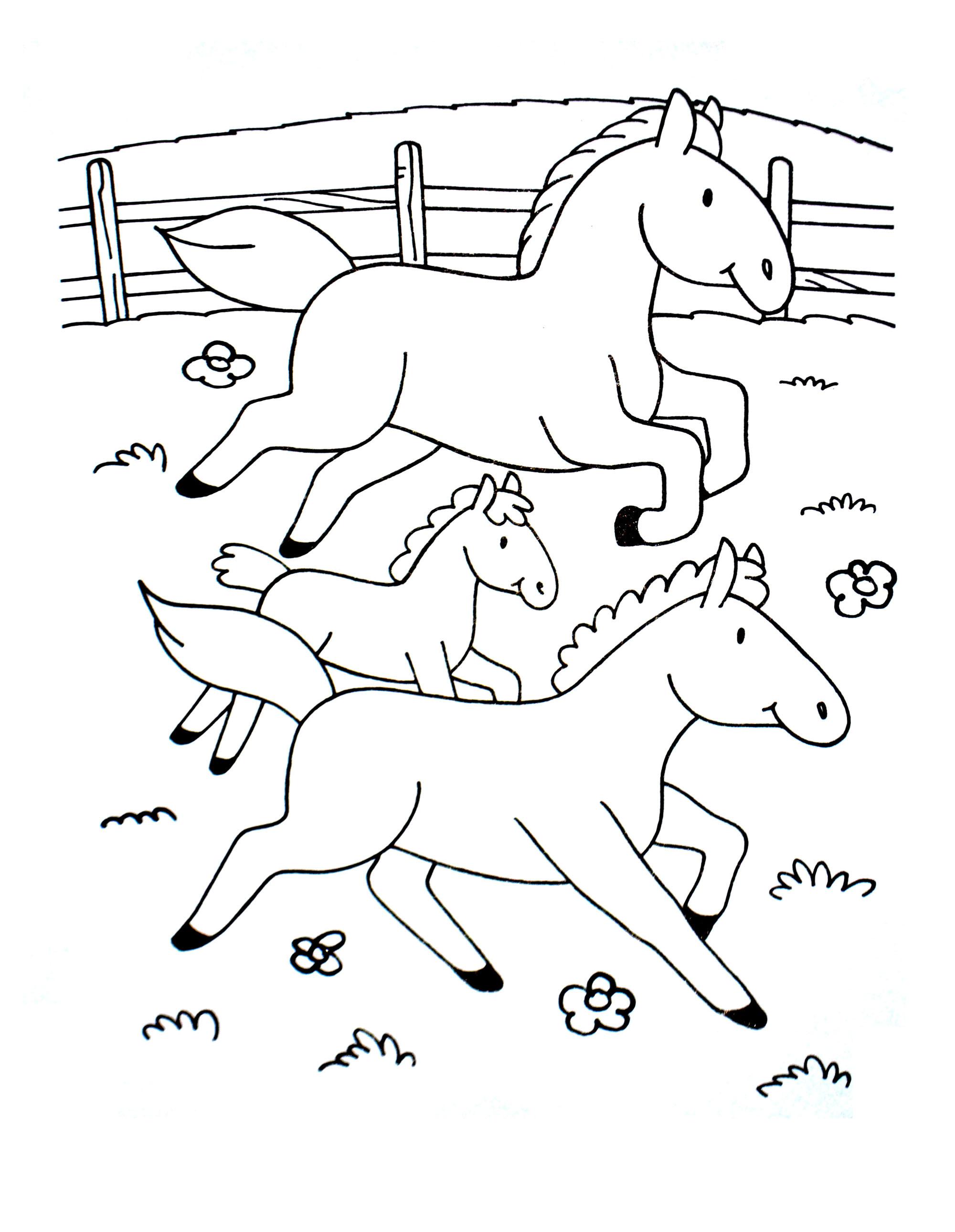 Coloriage Chevaux A Imprimer Pour Enfants Coloriages De Chevaux Et Poneys Coloriages Pour Enfants