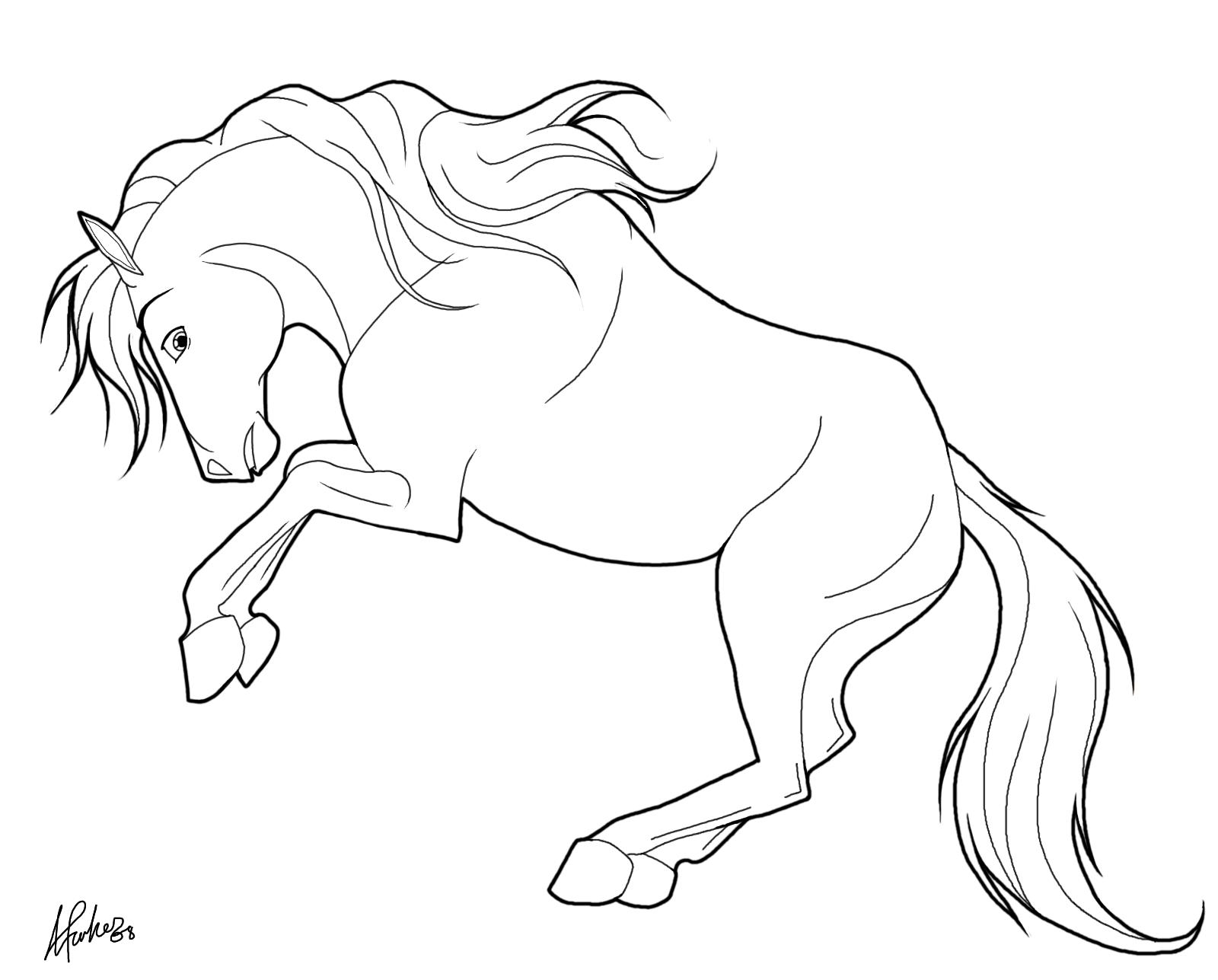 Cheval qui se cabre coloriages de chevaux et poneys - Dessin a colorier cheval ...