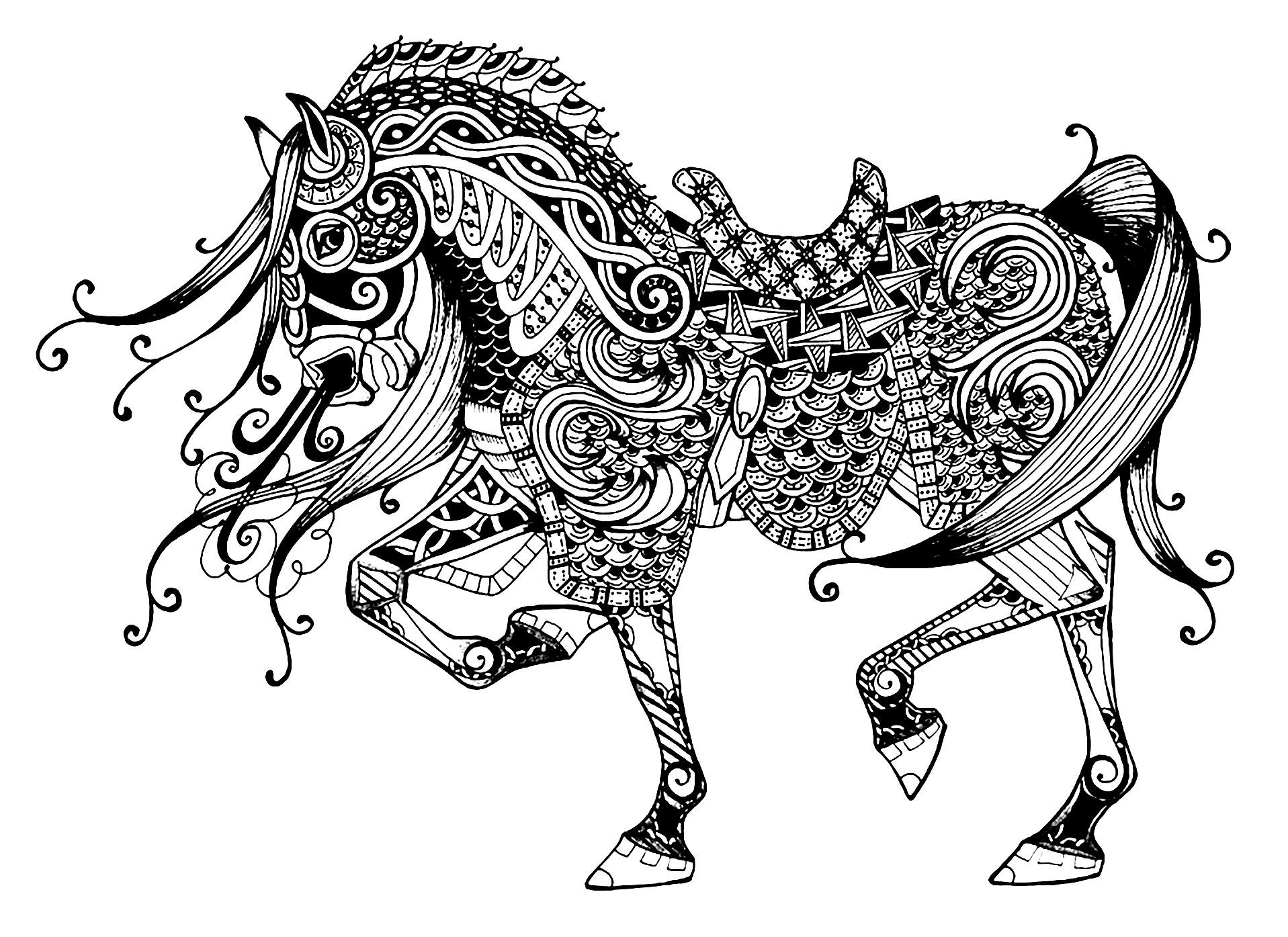 cheval elegant coloriages de chevaux et poneys coloriages dessin de cheval imprimer coloriage. Black Bedroom Furniture Sets. Home Design Ideas