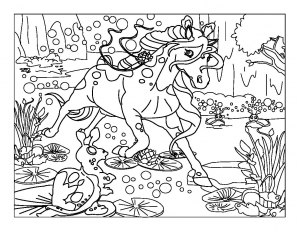 coloriage-chevaux-1 free to print