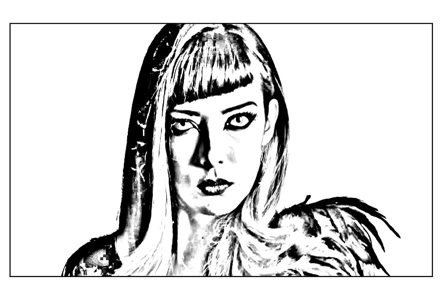 Chica vampiro catalina coloriage chica vampiro - Coloriage de vampire a imprimer ...