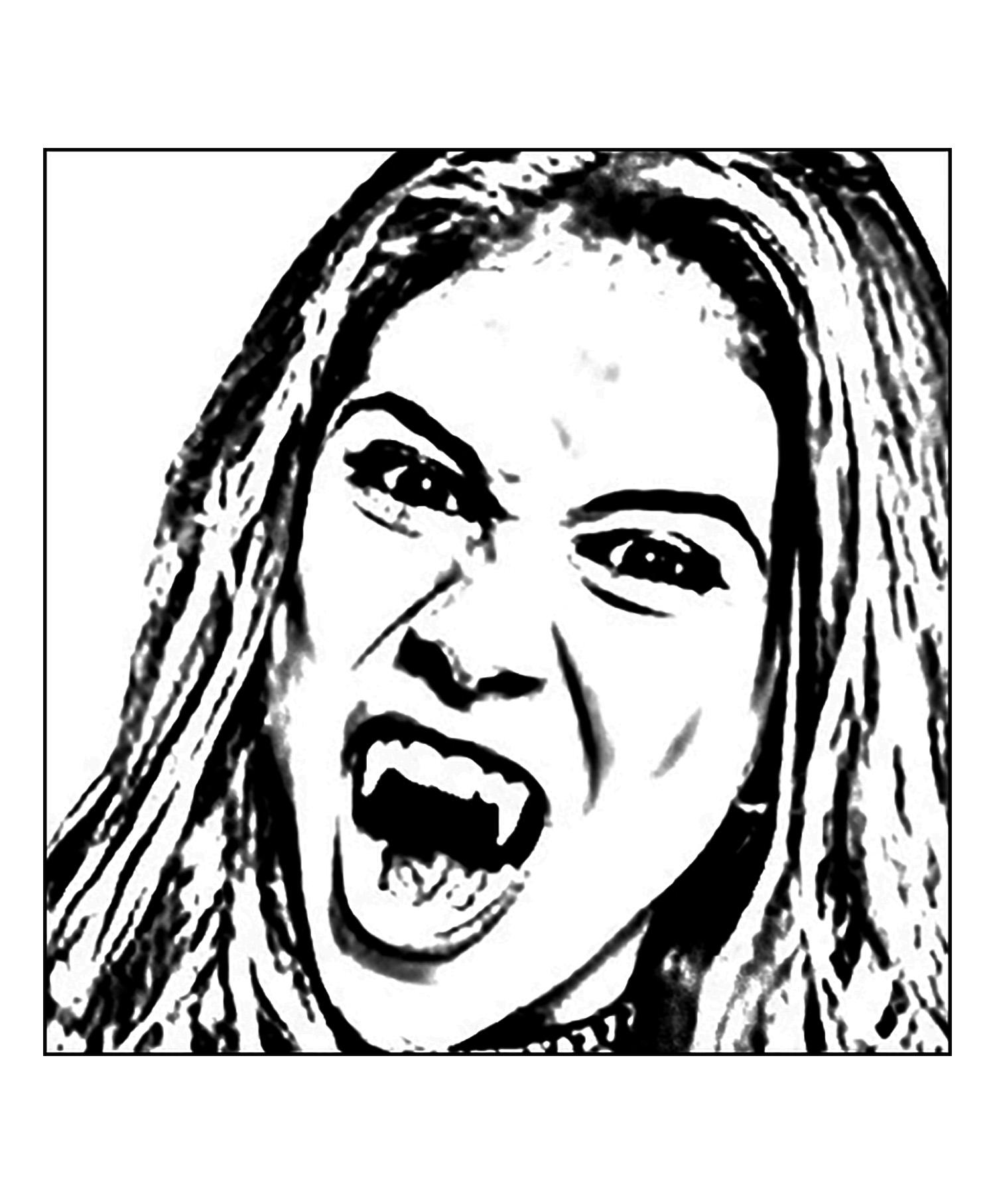 Chica vampiro daisy zoom visage coloriage chica vampiro - Coloriage chica vampiro ...
