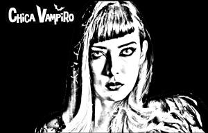 Coloriage chica vampiro catalina fond noir