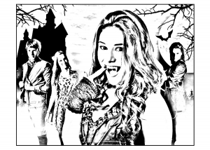 coloriage-chica-vampiro-daisy-et-ses-amis free to print