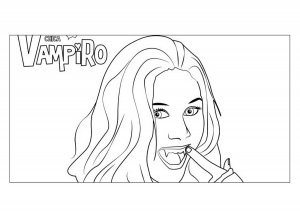 Coloriage simple chica vampiro daisy
