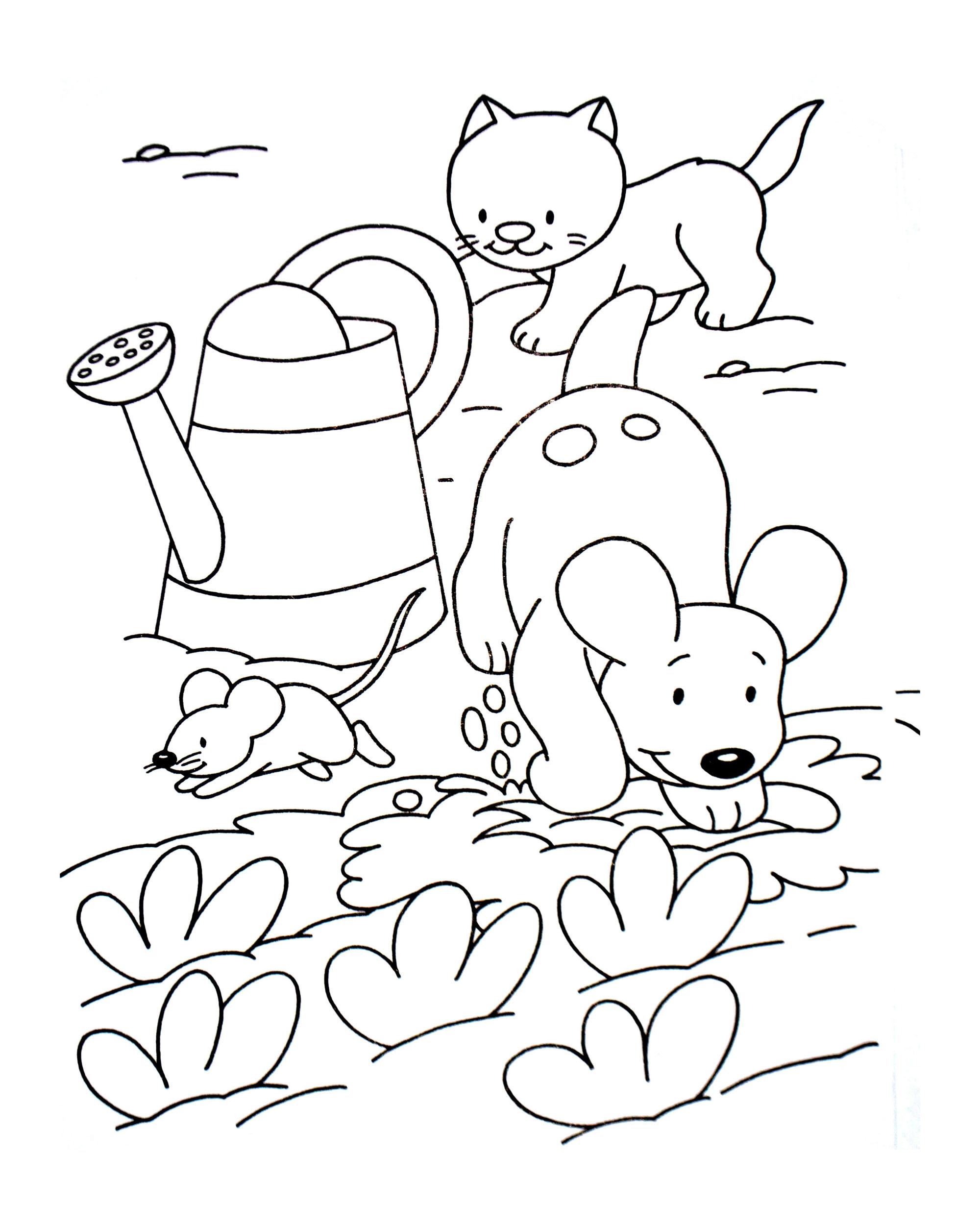 Coloriage de chien simple