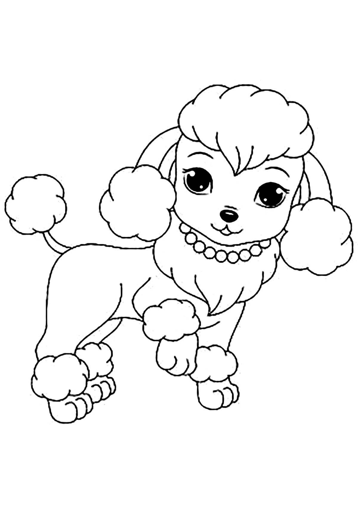 Chienne et collier - Coloriages de chiens - Coloriages ...
