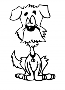 Coloriage de chien free to print