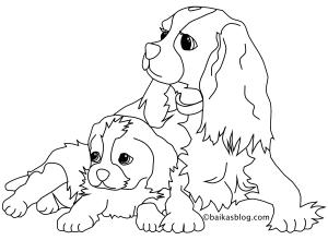 Coloriage de chiens free to print