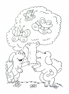 coloriage-a-imprimer-chiens-1 free to print