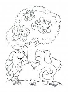 coloriage a imprimer chiens 1