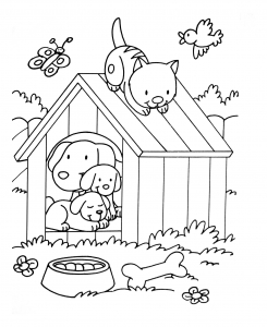 coloriage-a-imprimer-chiens-4 free to print