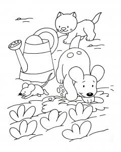 coloriage a imprimer chiens 5