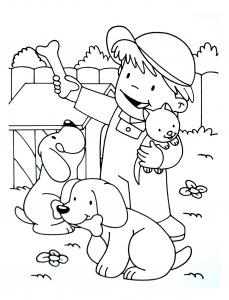coloriage a imprimer chiens 6
