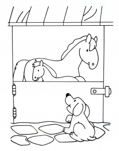 coloriage-a-imprimer-chiens-7 free to print
