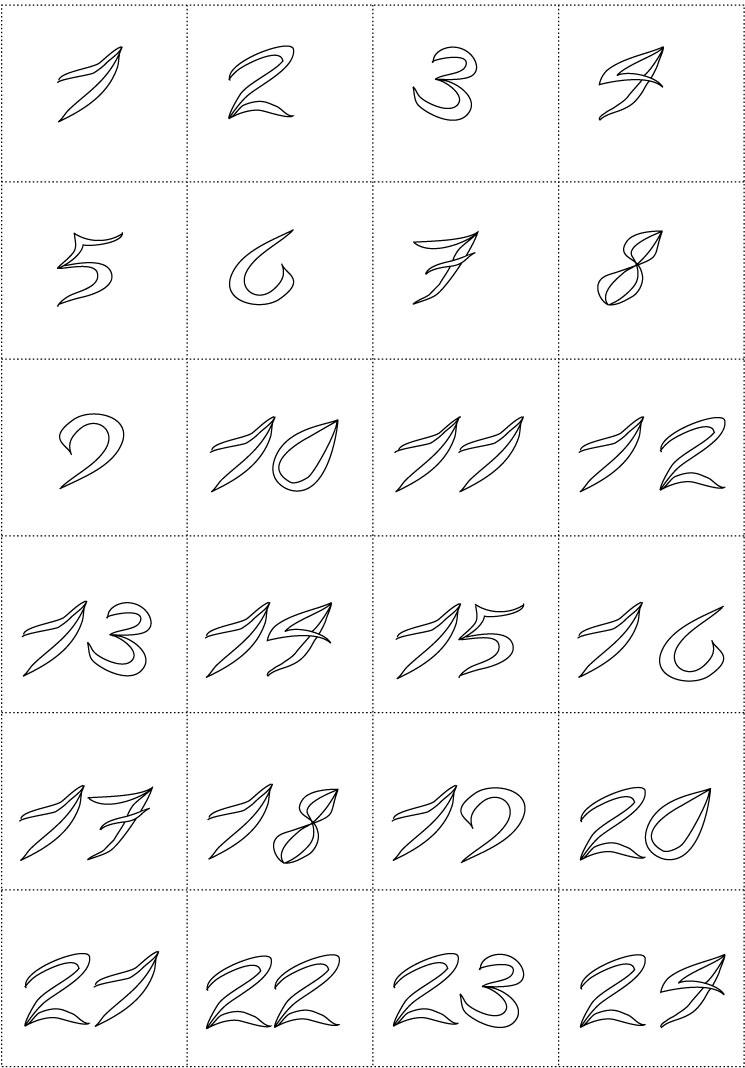 Coloriages chiffres 2 coloriages de chiffres - Coloriage avec des chiffres ...