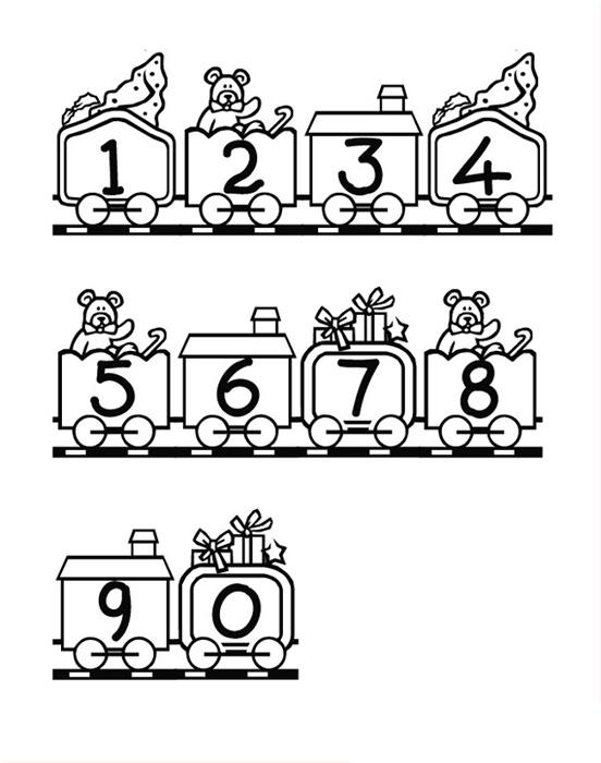 Le petit train des chiffres !