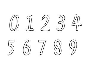 Coloriages chiffres 3