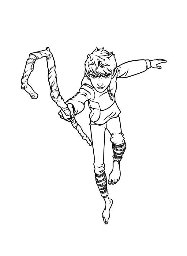 Coloriage de Jack Frost des 5 légendes