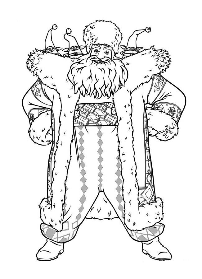 Coloriage du Père noël des 5 légendes