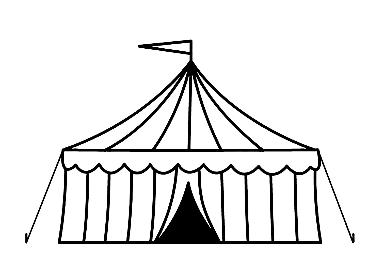 Coloriage de Cirque à imprimer