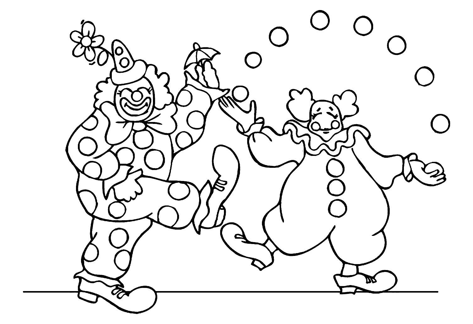 Incroyable coloriage de Cirque pour enfants