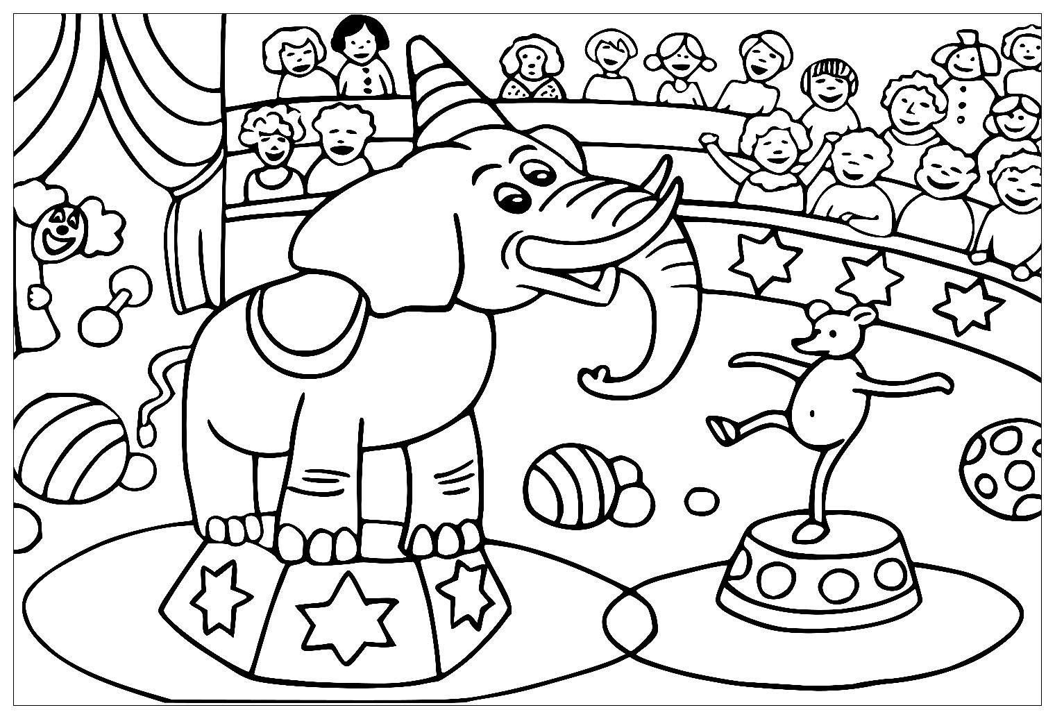 Coloriage Theme Du Cirque Coloriages Cirque Coloriages Pour Enfants