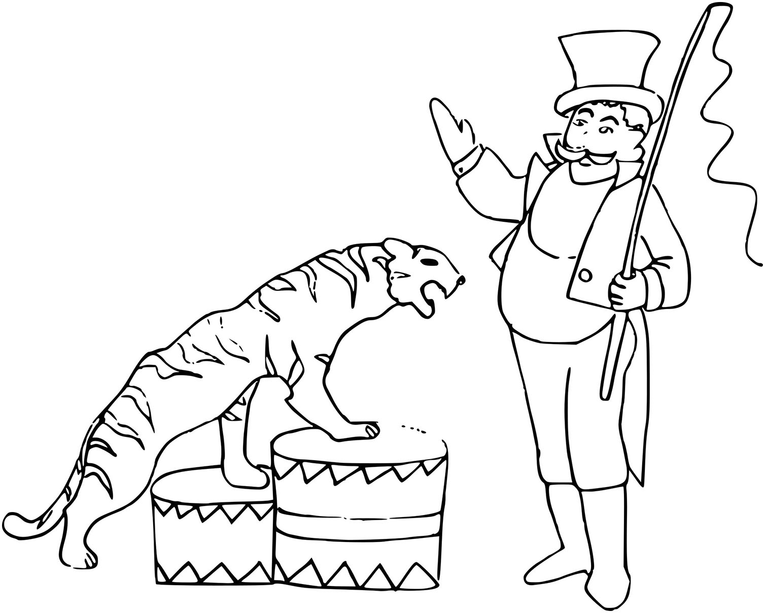 Coloriage Cirque Tigre A Imprimer Sur Coloriages With Regard To
