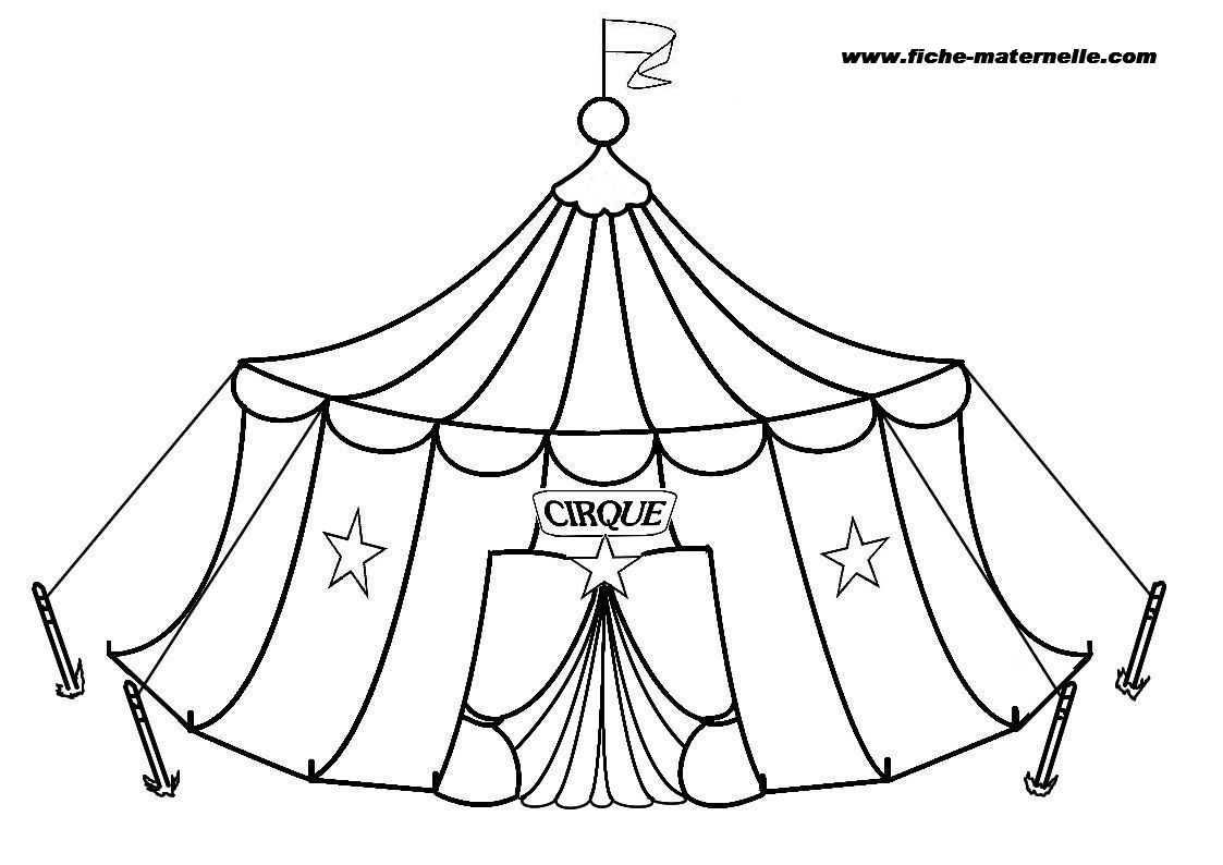 coloriage cirque free to print
