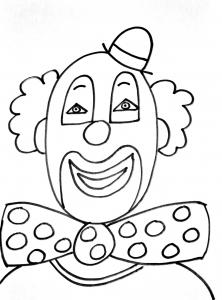 Clown simple free to print