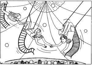 Coloriage de Cirque à telecharger gratuitement