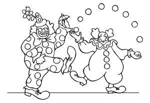 Coloriage enfant cirque 5