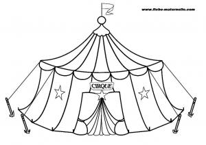 Coloriage Cirque free to print