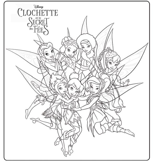 Coloriages Clochette 2 Coloriage Fée Clochette Coloriages Pour