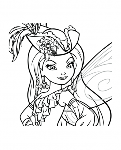 Coloriage clochette_fee_pirate ondine