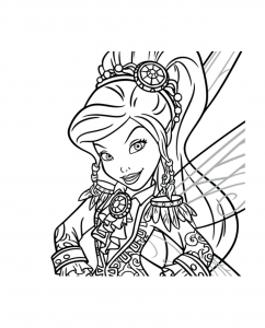 Coloriage clochette_fee_pirate vidia