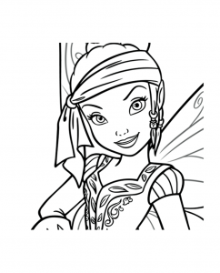 coloriage-clochette_fee_pirate_iridessa free to print