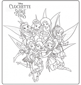 Coloriages clochette 2