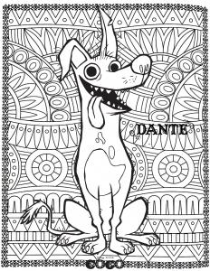 Dessin de Coco gratuit à imprimer et colorier