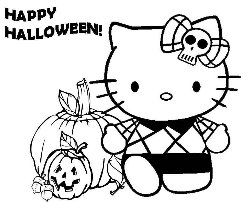 Gratuit halloween hello kitty coloriage halloween - Coloriage hello kitty a colorier ...