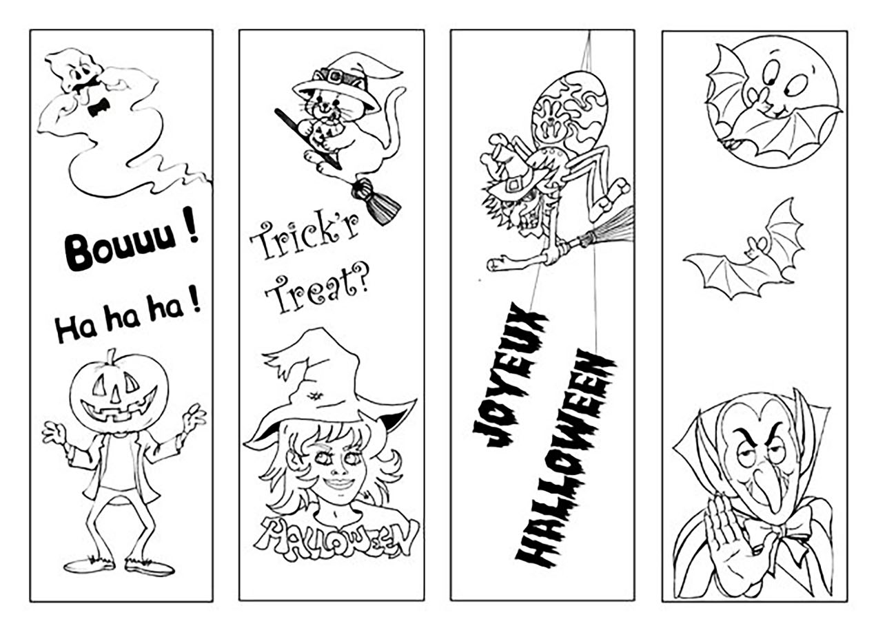 Halloween cartoon coloriage halloween coloriages pour - Coloriage halloween gratuit ...