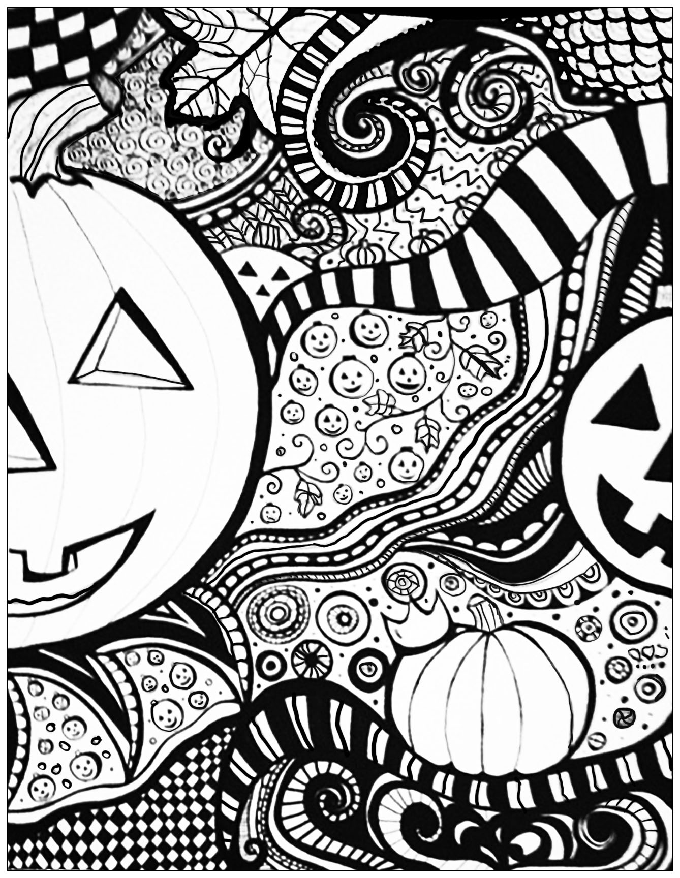 halloween citrouilles coloriage halloween coloriages. Black Bedroom Furniture Sets. Home Design Ideas