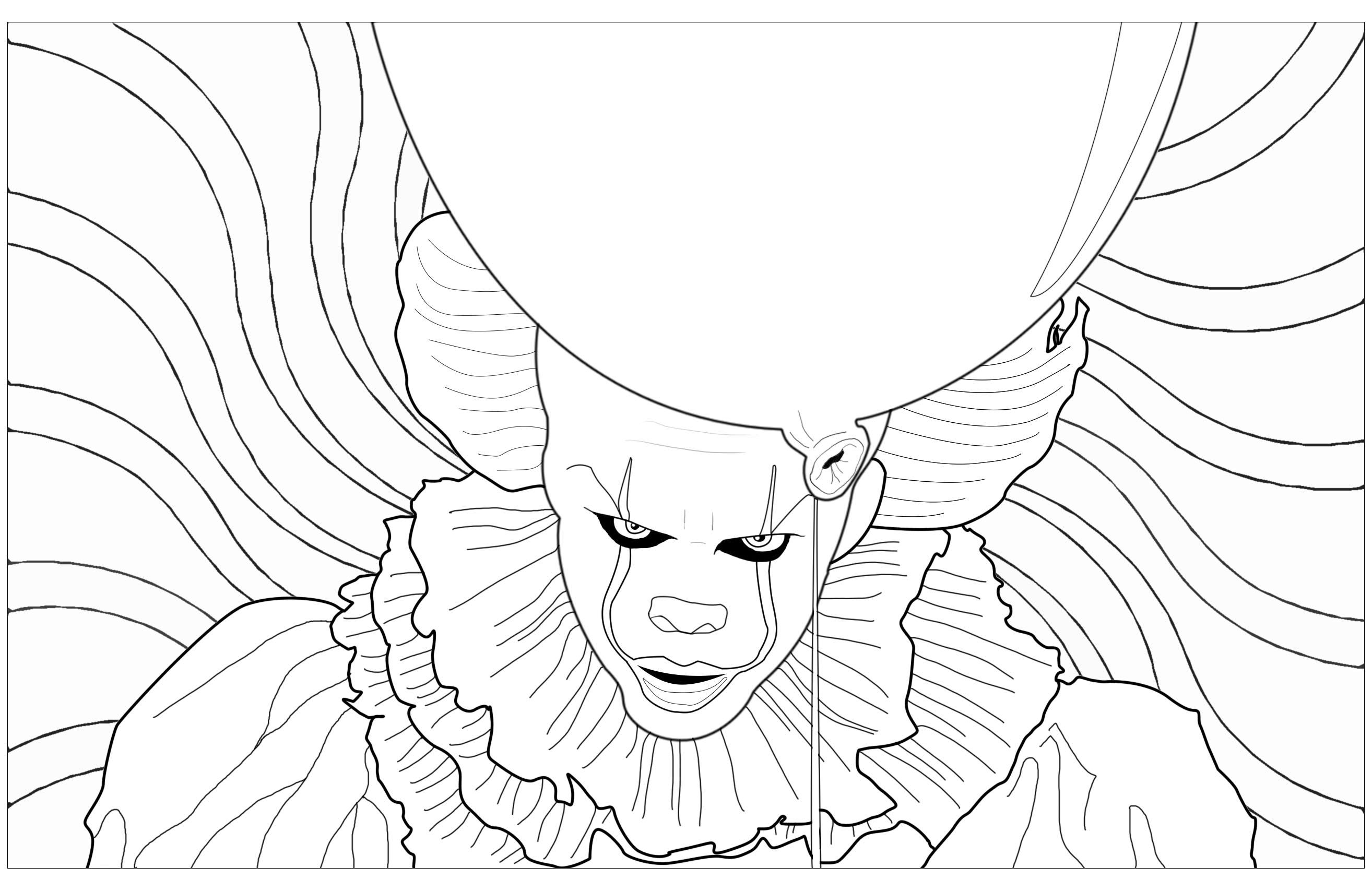 Halloween clown ca grippe sous coloriage halloween - Clown coloriage ...