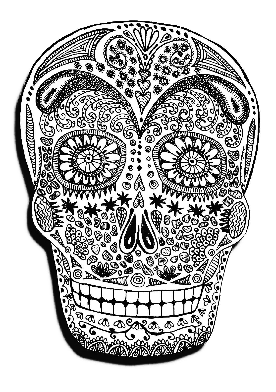 Halloween crane coloriage halloween coloriages pour enfants - Coloriage squelette halloween ...