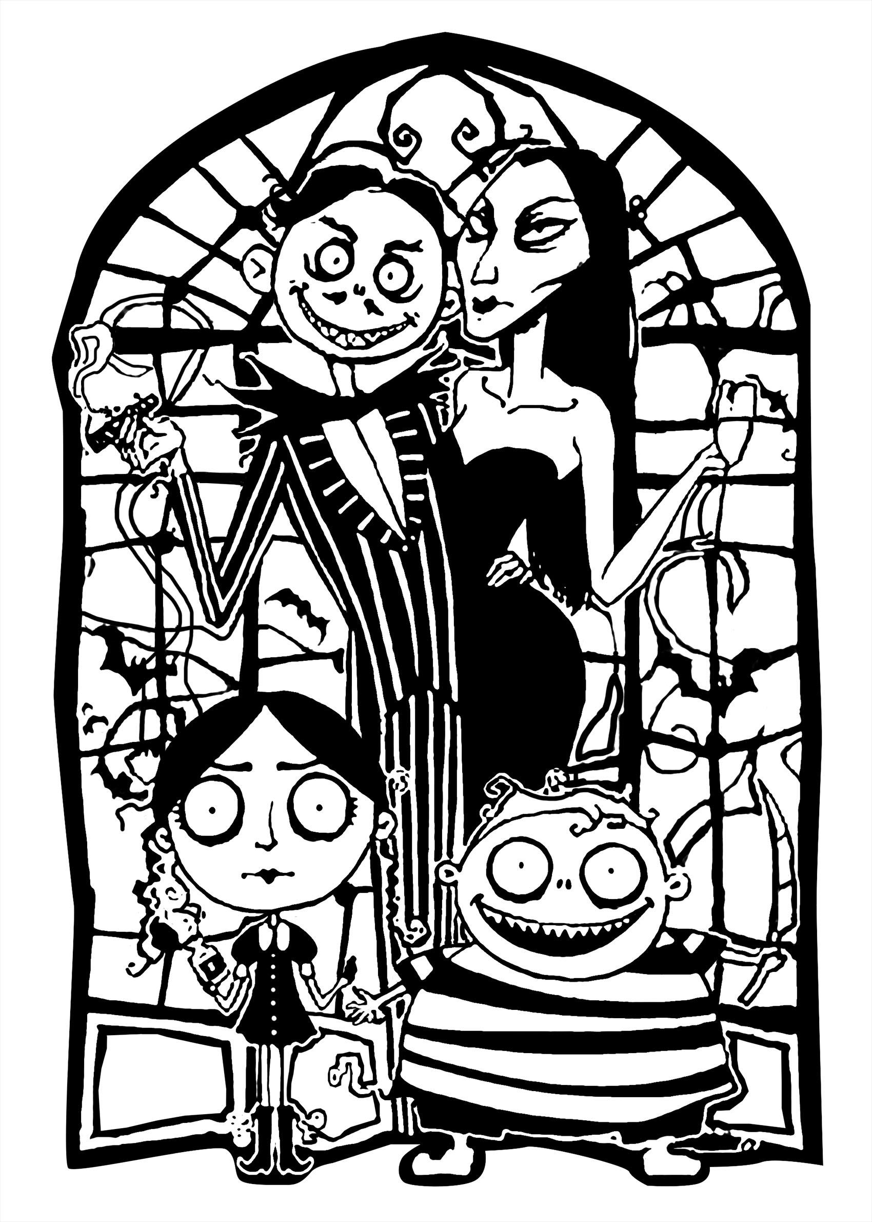 La sympathique Famille Adams : parents et enfants