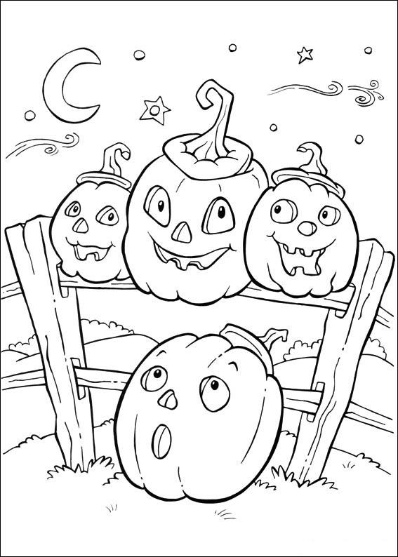 Coloriage d'Halloween : citrouilles