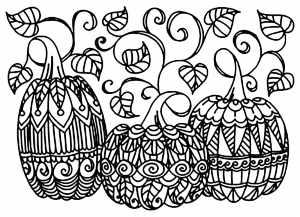 coloriage-halloween-3-citrouilles free to print