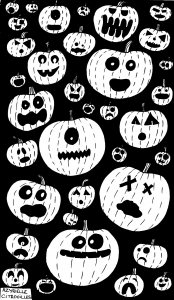 Coloriage de Halloween à imprimer